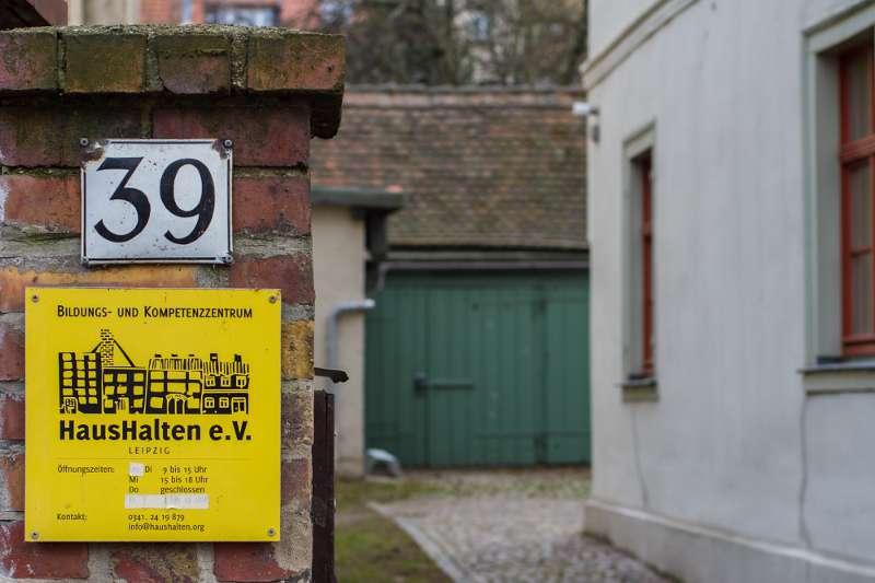 Wächterhaus in der Lützner Strasse in Leipzig.