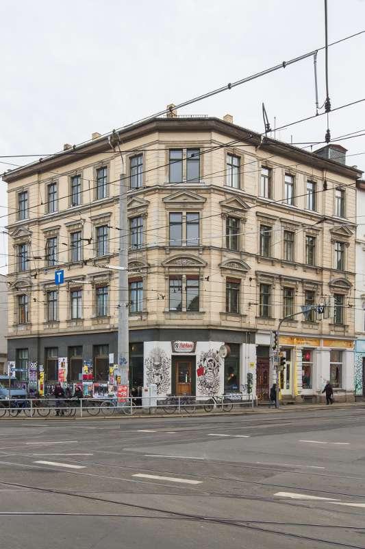 Wächterhaus in der Nähe des Leipziger Felsenkellers.
