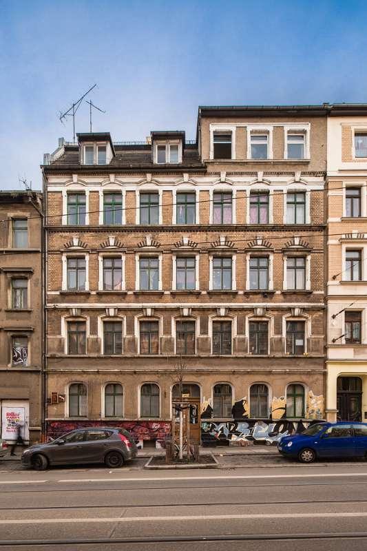 Wächterhaus in der Lützner-Strasse 55 in Leipzig Lindenau.