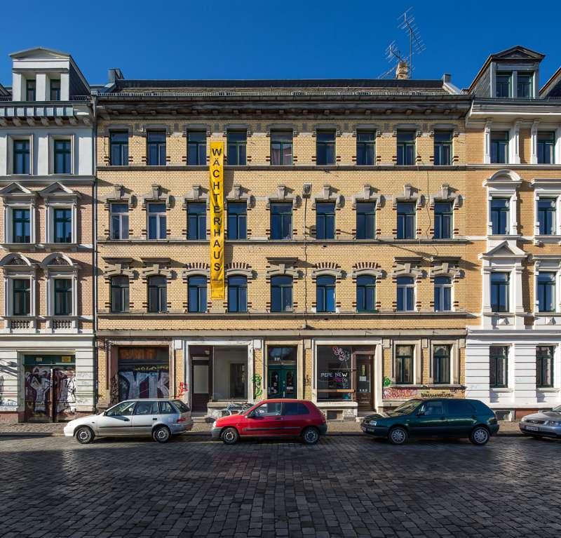 Wächterhaus in der Merseburger Strasse in Leipzig.