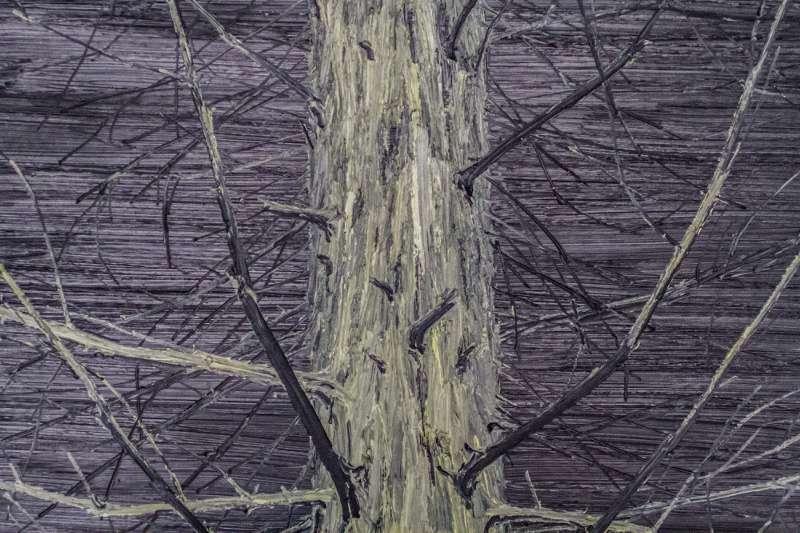 Detailansicht eine Malerei von Helge Hommes.