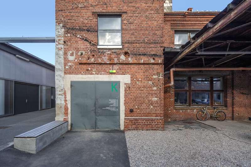 Eingang zu einem Gebäude auf dem Tapentenwerk in Lindenau.
