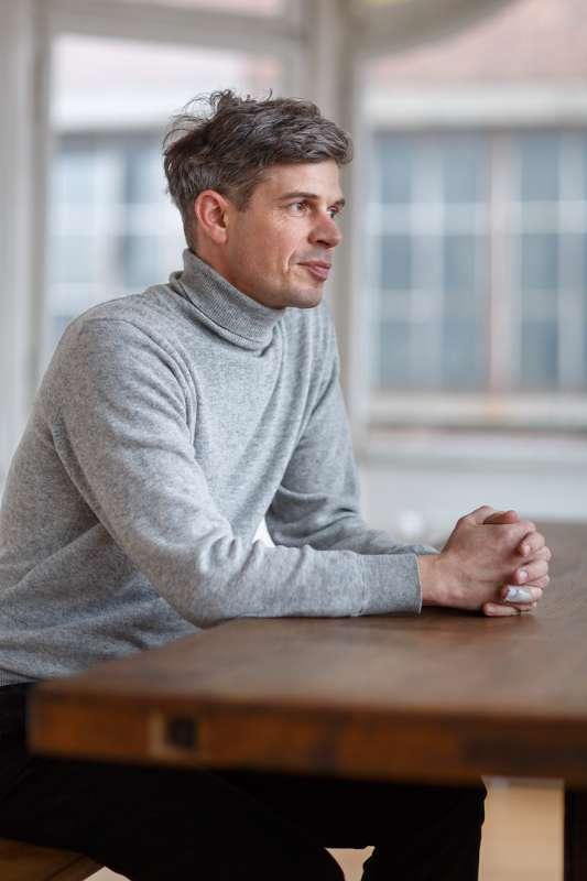 Peter Sterzing in seinem Büro im Westwerk Leipzig.