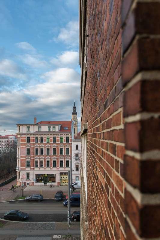 Blick auf die Phillipuskirche in Leipzig Lindenau.