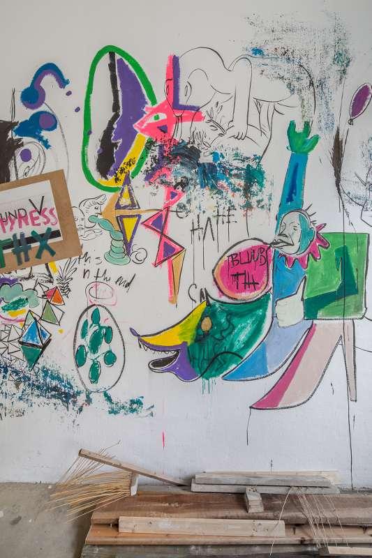 Ein Detail in einem Nebenraum der Leipziger Galerie AundV