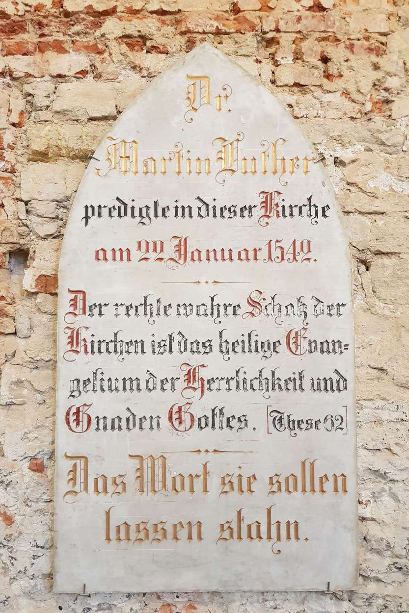 Luther hat große Symbolkraft für die Entstehung der Mendl Festspiele. Einer der Abende musste an diesem Ort sein, an dem der Reformator vor fast 500 Jahren predigte
