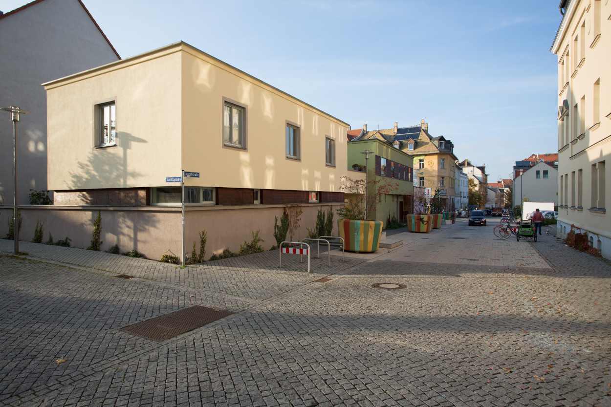 Ein Blick in die verkehrsberuhigte Zone der Jospephstraße.