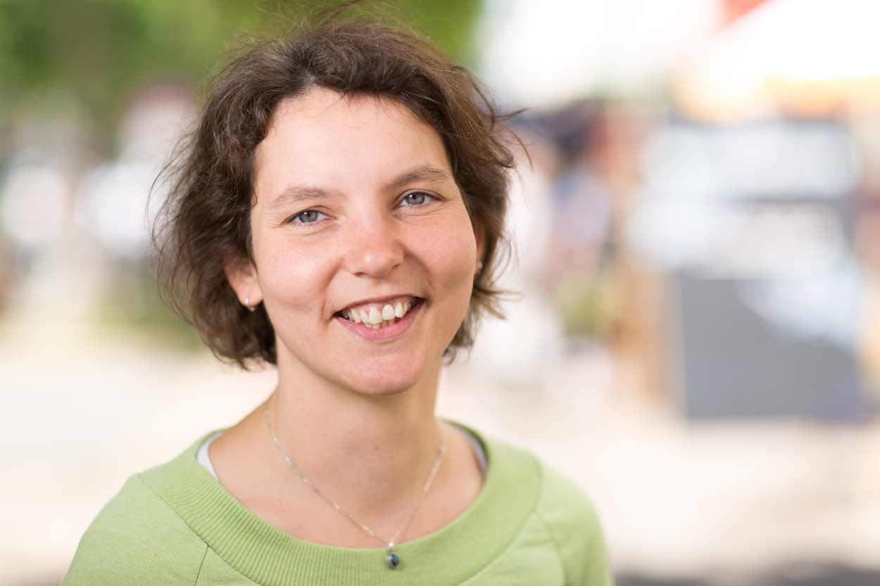 Katja Berger, künstlerische Leiterin des Bohei & Tam Tam Straßenfestes in Leipzig Lindenau.