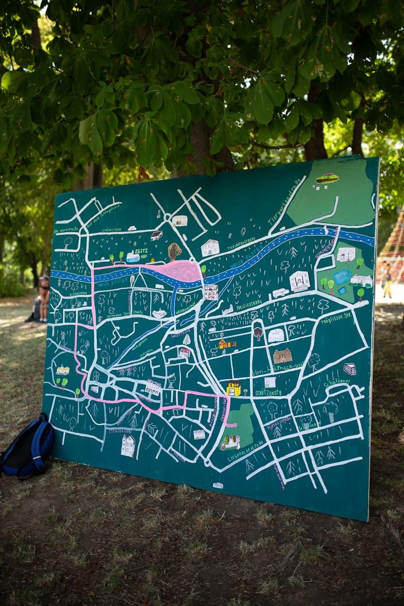 Die Karte des Ablaufplans der großen Parade durch Zeitz | Regentaucher Fotografie