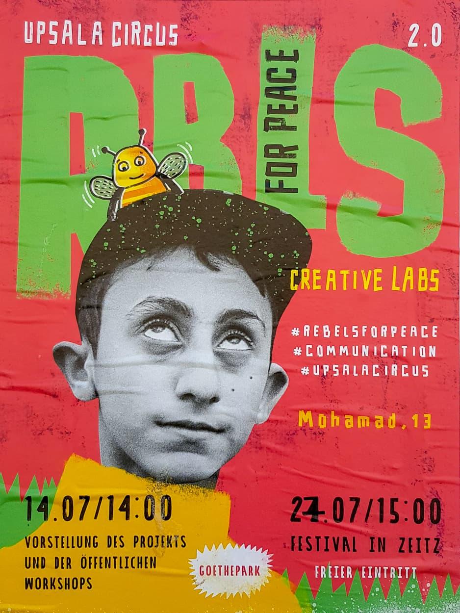 Plakatserie für das Zeitzer Rebells for Peace Projekt 2019.