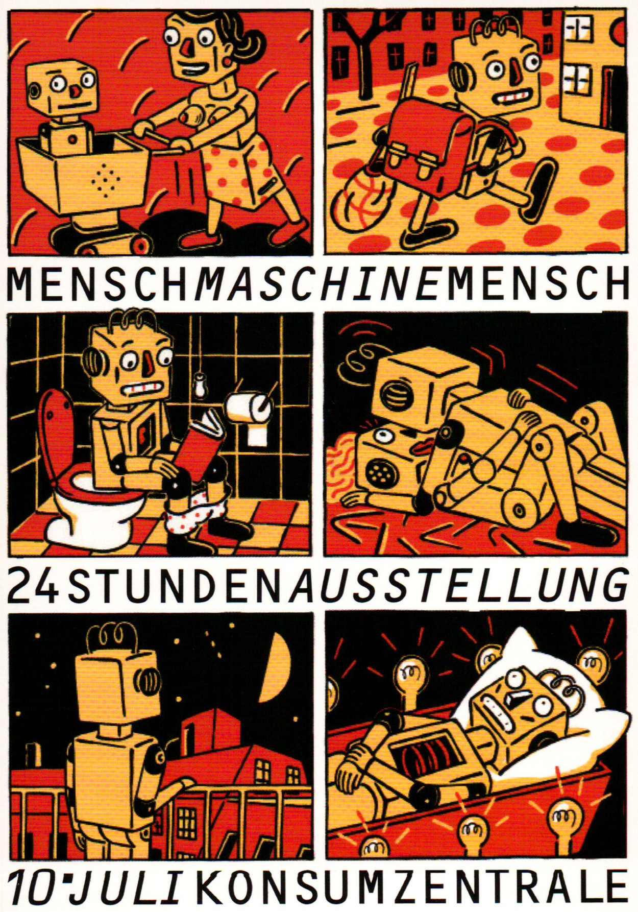 Mensch Maschine Mensch – in der Konsumzentrale 2004.