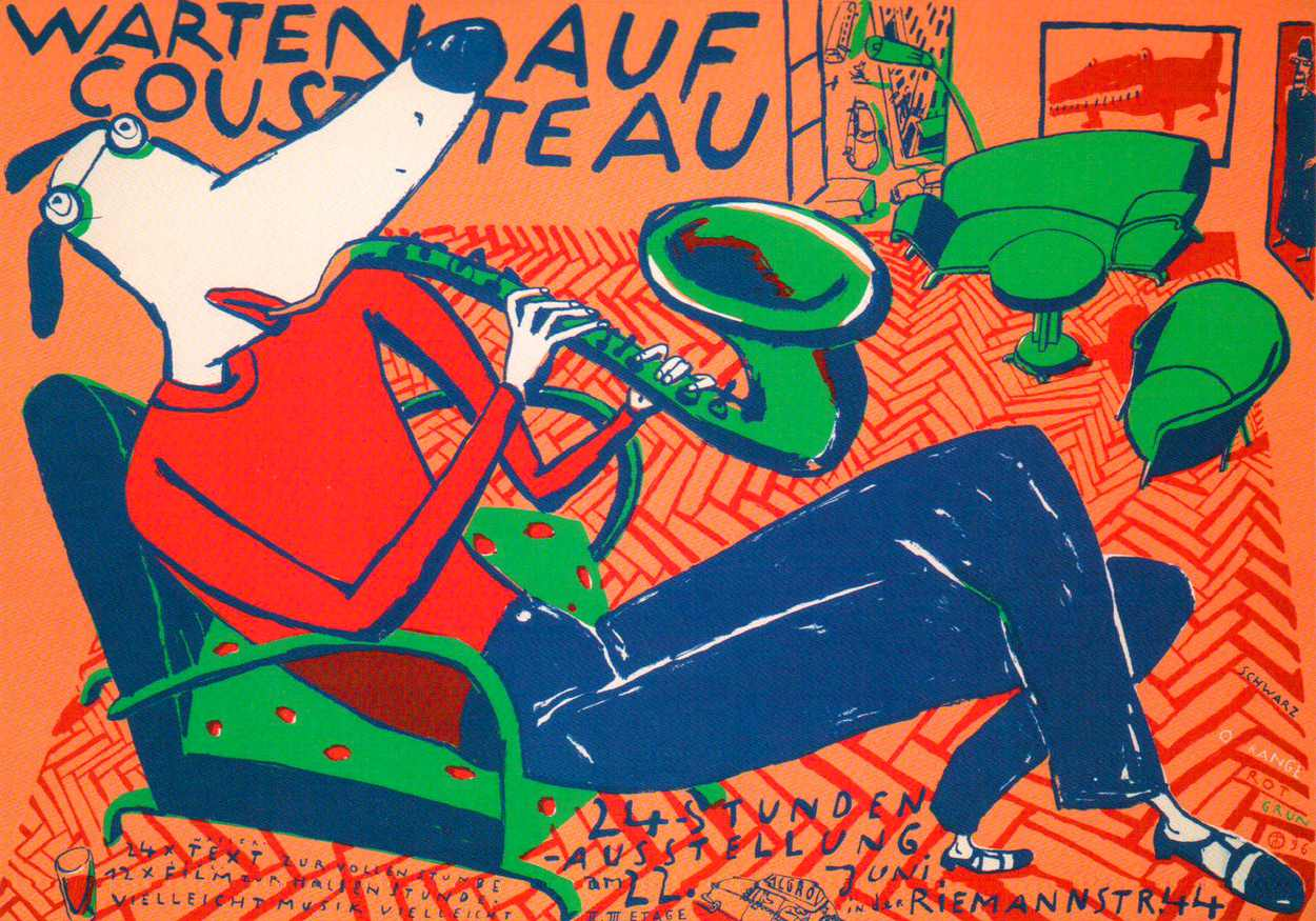 Warten auf Cousteau in der Riemannstraße 1996, Thilo Egenberger übernimmt das Konzept der 24-Stunden-Ausstellungen.
