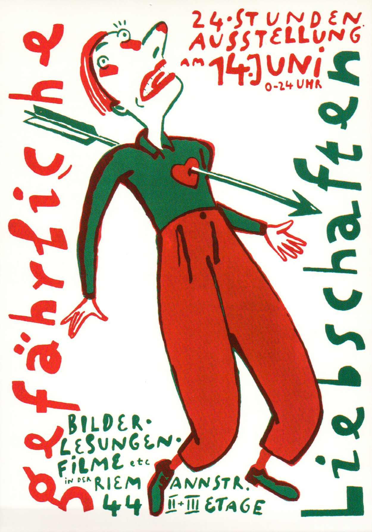 Gefährliche Liebschaften - die letzte 24-Stunden-Ausstellung in der Reimannstraße 1997.