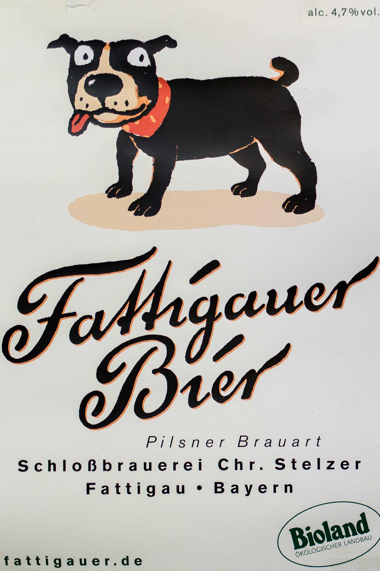 Das Etikett wurde gestaltet und illustriert von Thomas Matthaeus Müller.