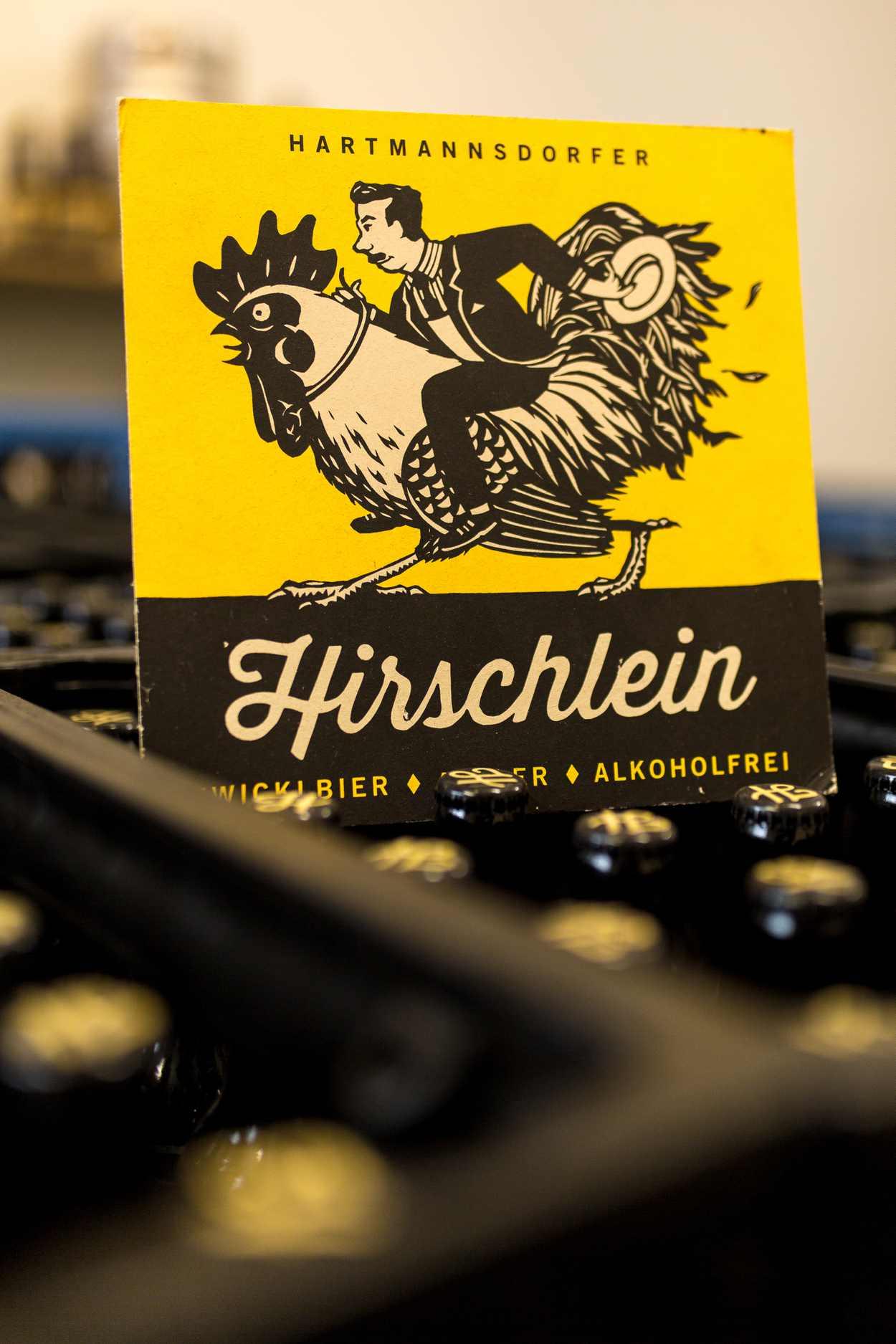 Hirschlein - das Motiv des Hahnreiters ist wurde von Phillip Janta gestaltet.
