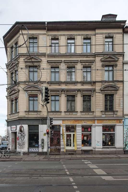 Wächterhaus in der Zschocherschen Strasse in Leipzig Lindenau.