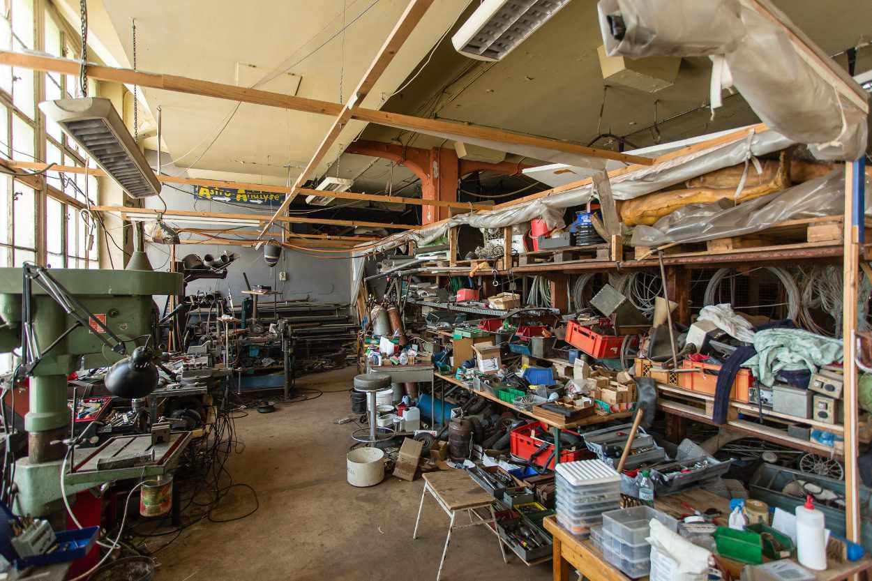 Ein Blick in die Werkstatt von Jim Whiting im Bimbotown.