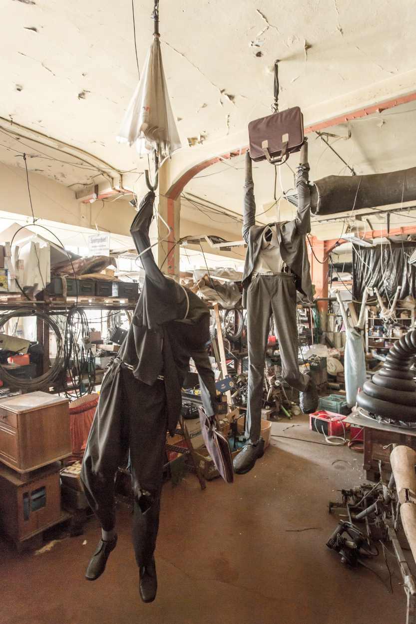 Ein Blick in die Werkstatt von Jim Whiting.