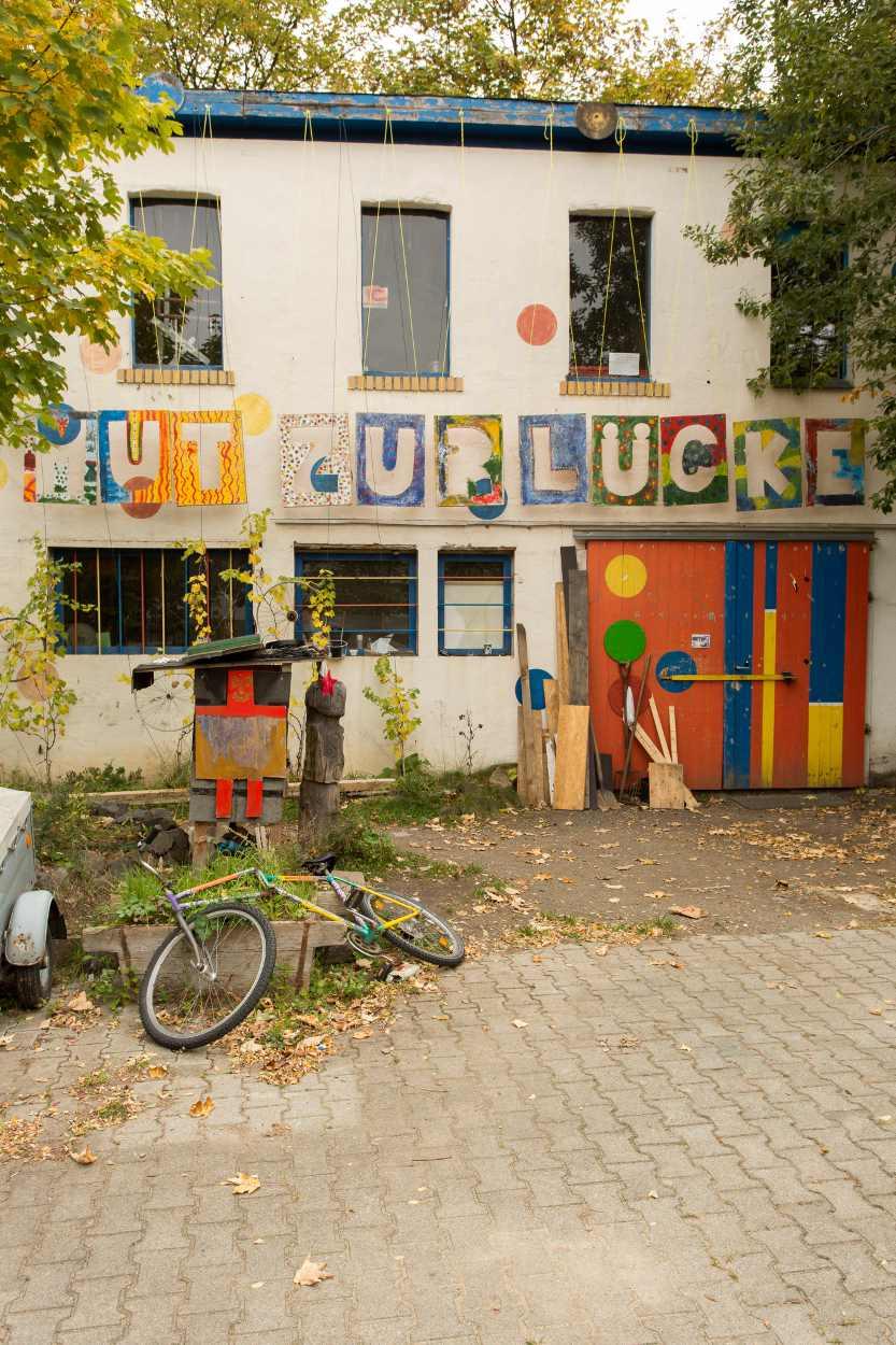 Aufnahme der Fahrrad-Selbsthilfewerkstatt in den Nachbarschaftsgärten.