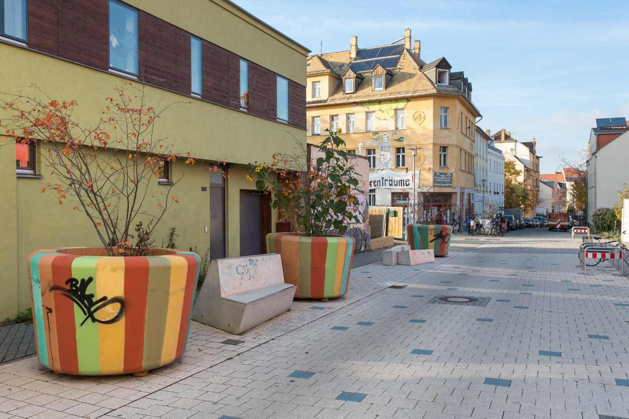 Pflanzkübel in der Jospehstraße