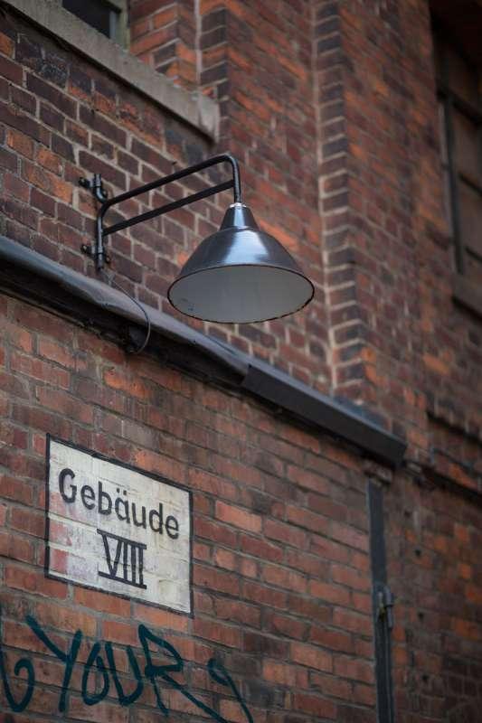 Detailaufnahme einer Lampe im Westwerk.