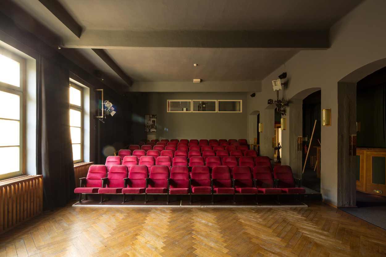 Im Grünen Salon, im Obergeschoss der Schaubühne Lindenfels in Leipzig Lindenau, werden regelmäßig Filmreihen gezeigt, die ausgewählten Regisseuren gewidmet sind.