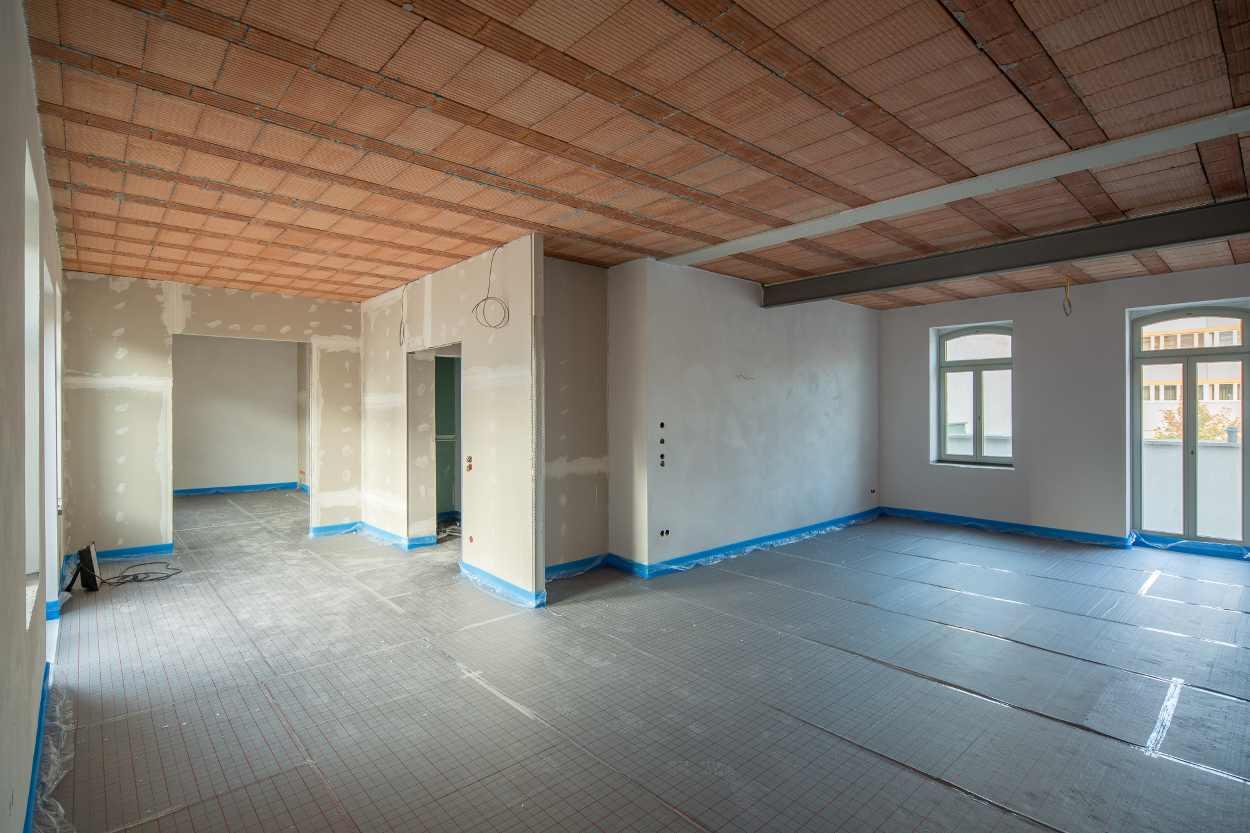 Innenausbau des Gebäudes in Leipzig Lindenau