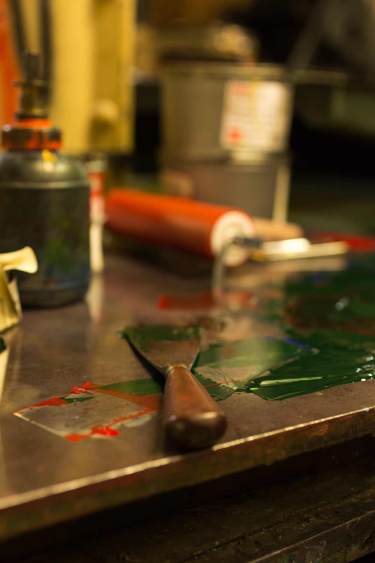 Detail in der Buchdruckwerkstatt von Thomas Siemon auf der Baumwollspinnerei Leipzig