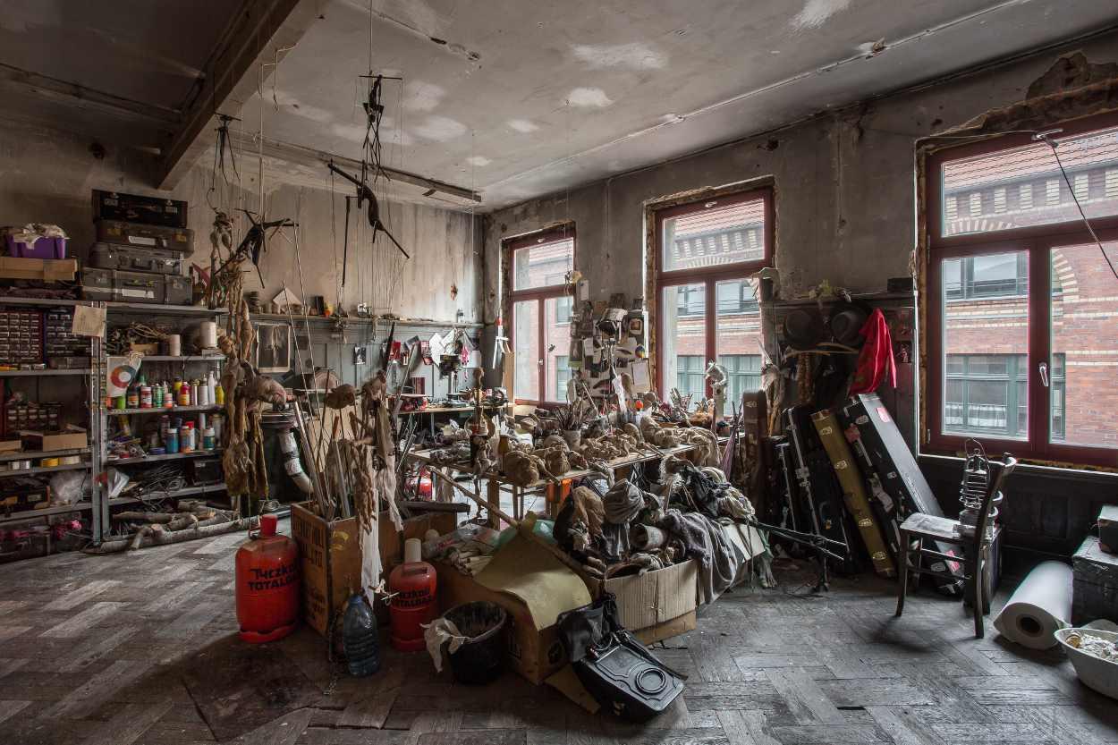 Blick in die Werkstatt von Michael Vogel in Leipzig Lindenau.