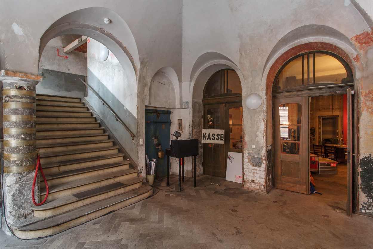 Der Eingangsbereich des Westflügels Leipzig.