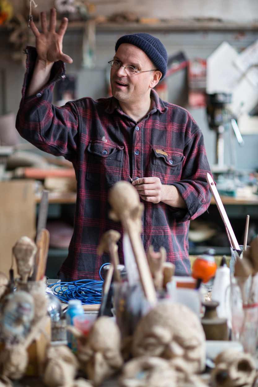Blick in die Werkstatt von Michael Vogel.